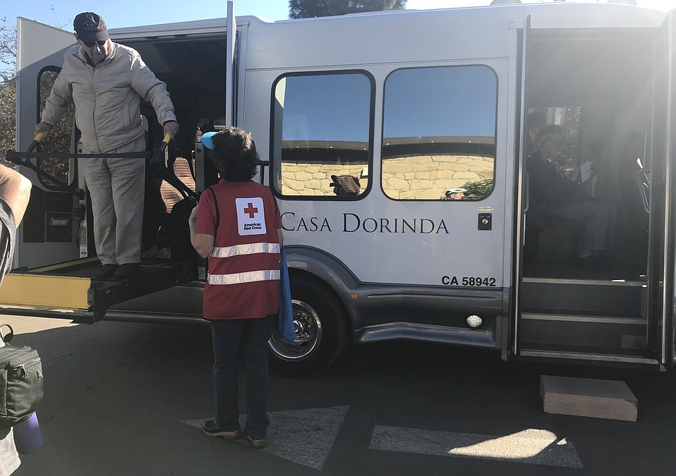 A busload of Casa Dorinda residents were taken to shop at Vons in Montecito.