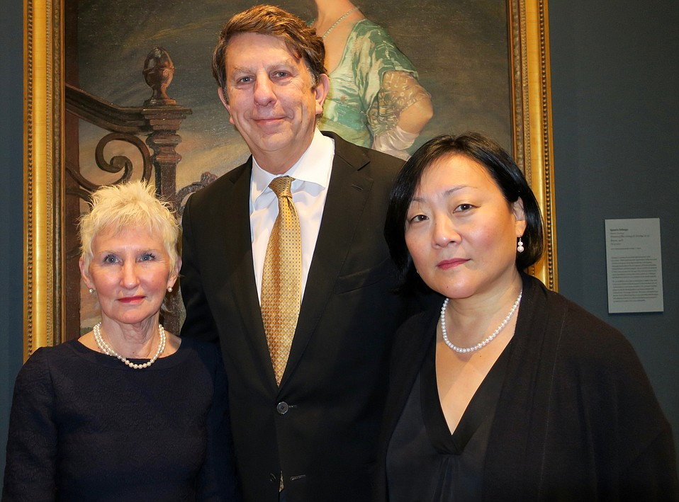 Starr Siegele, Director and CEO Larry Feinberg, and Assistant Director and Chief Curator Eik Kahng.