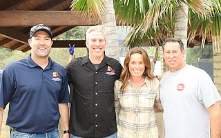 The Event Committee: Captain Bob Kendall, Engineer Jeremy Denton, Firefighter TIa Rodriguez, and Engineer Jeff Zampese (all SB City Fire).