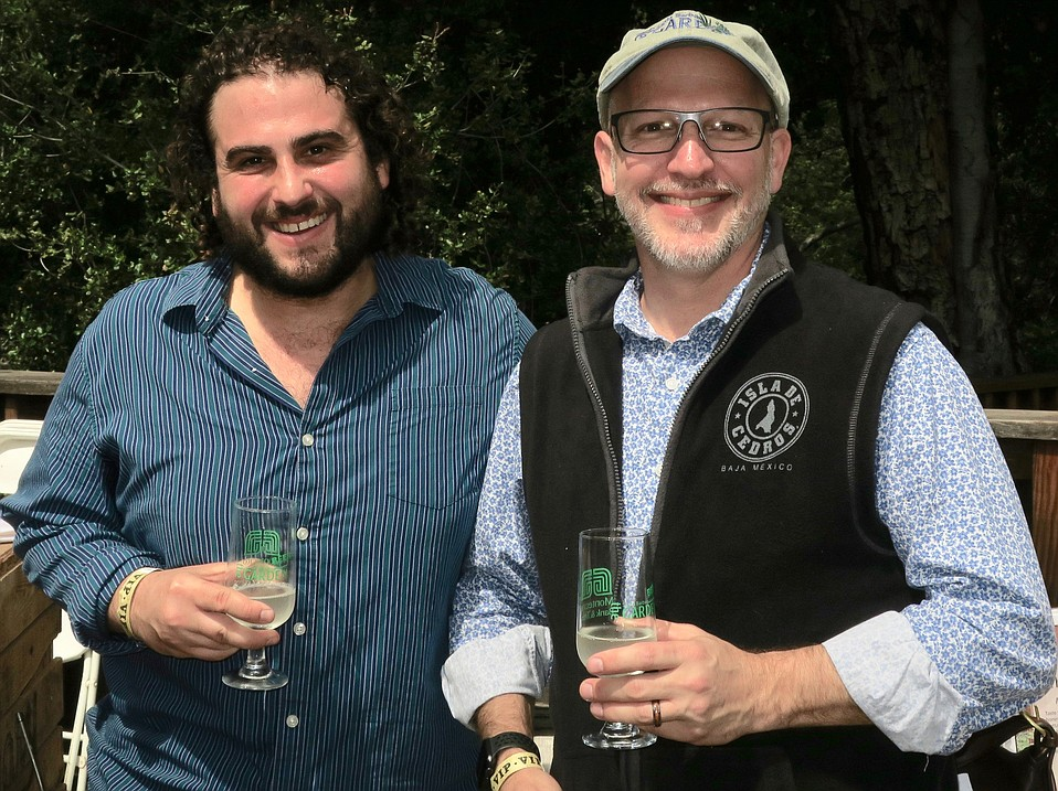 Beer sommelier Zachary Rosen and SBBG Executive Director Steve Windhager