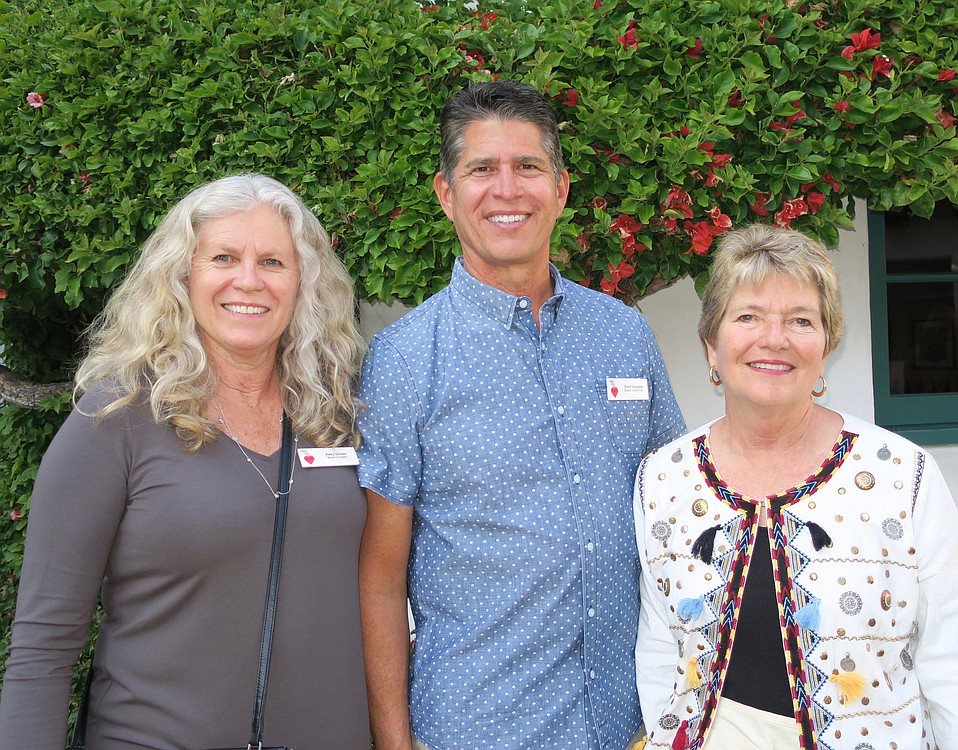 Board Chair and volunteer Kelly Onnen, Vice Chair and volunteer Dave Gonzales, and Treasurer and volunteer Kathy Denlinger