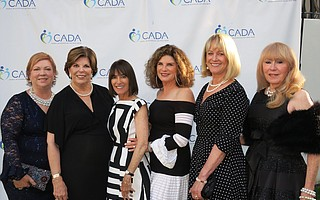 Event Co-chairs: Boardmember Holly Murphy, Boardmember Diana MacFarlane, Anne Smith Towbes, Boardmember Betsy Turner, Boardmember Susan Neuman, and Dana Mazzetti at CADA's (Council on Alcoholism and Drug Abuse) Amethyst Ball