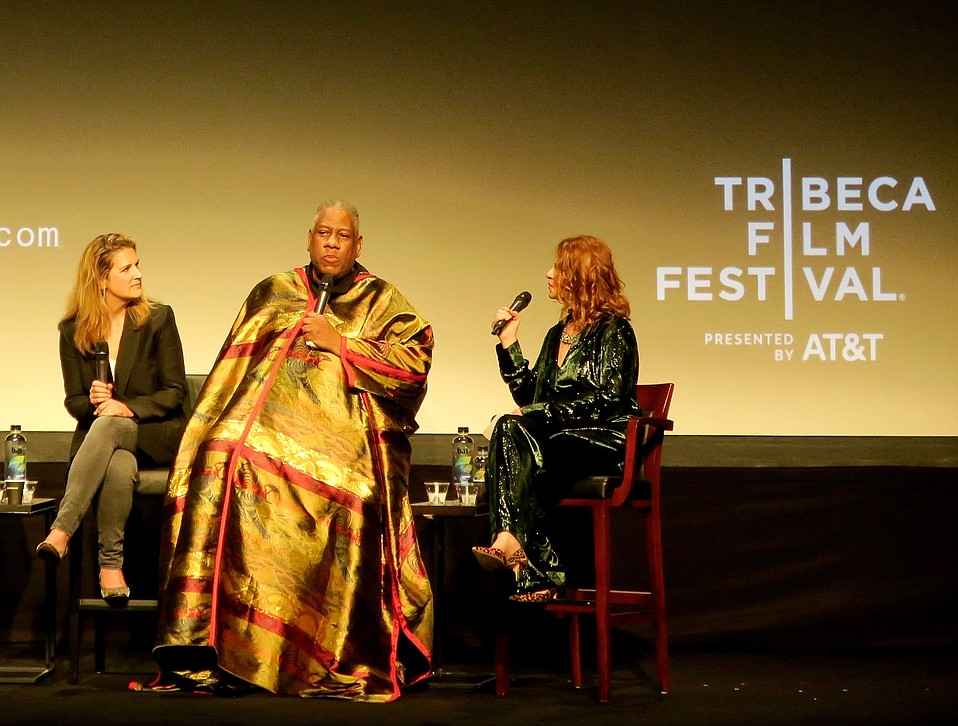 Tribeca's spotlight on the world of couture came to a climactic finale with the New York premiere of director Kate Novack's <em>The Gospel According to Andre</em>, a touchingly candid peek into the life and drive of one of high fashion's most prominent torchbearers, Andre Leon Talley (pictured center).