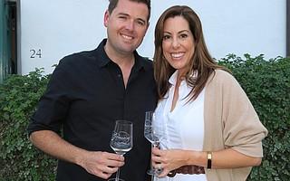 CEO Katie (Grassini) McKillen (R) with her husband and distributor, Dean McKillen of J&L Wines.