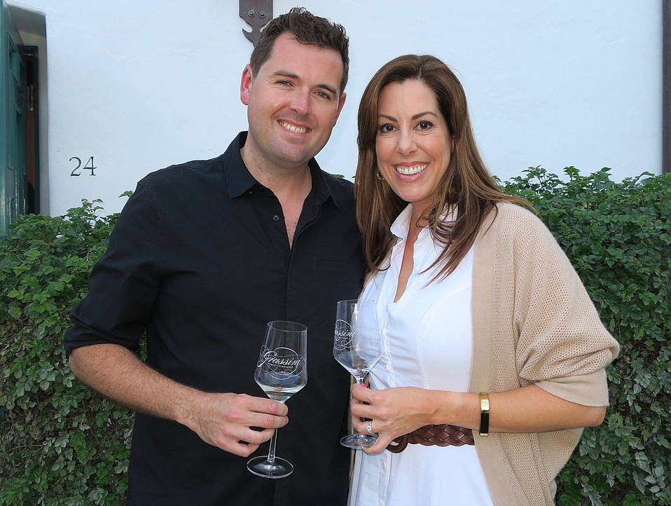 CEO Katie (Grassini) McKillen (R) with her husband and distributor, Dean McKillen of J&L Wines.