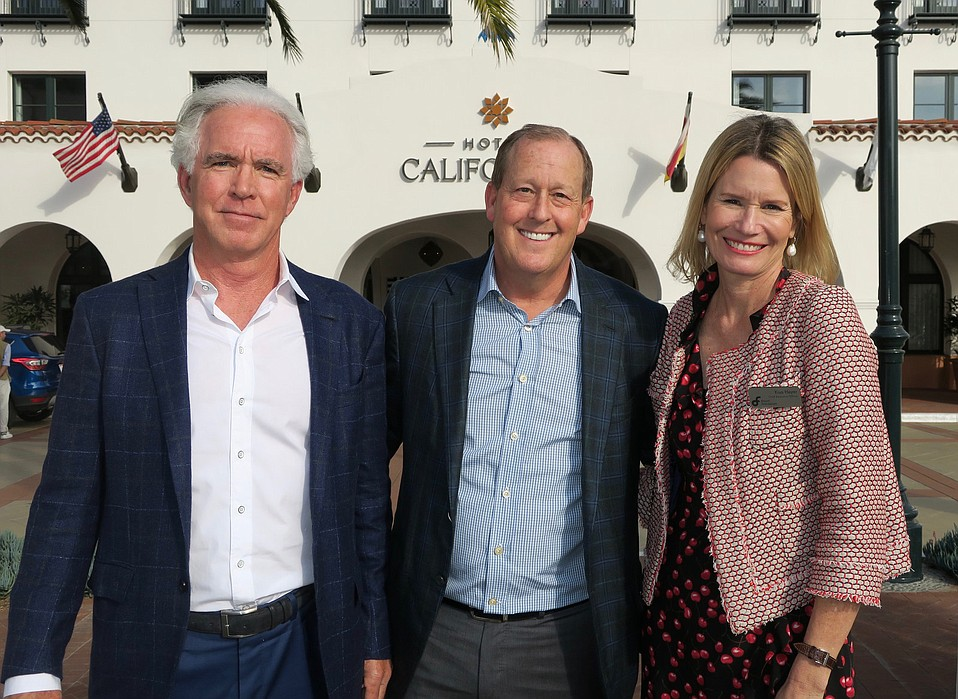 Board Chair Kenny Slaught, Hotel Californian owner Michael Rosenfeld, and CEO Kisa Heyer.