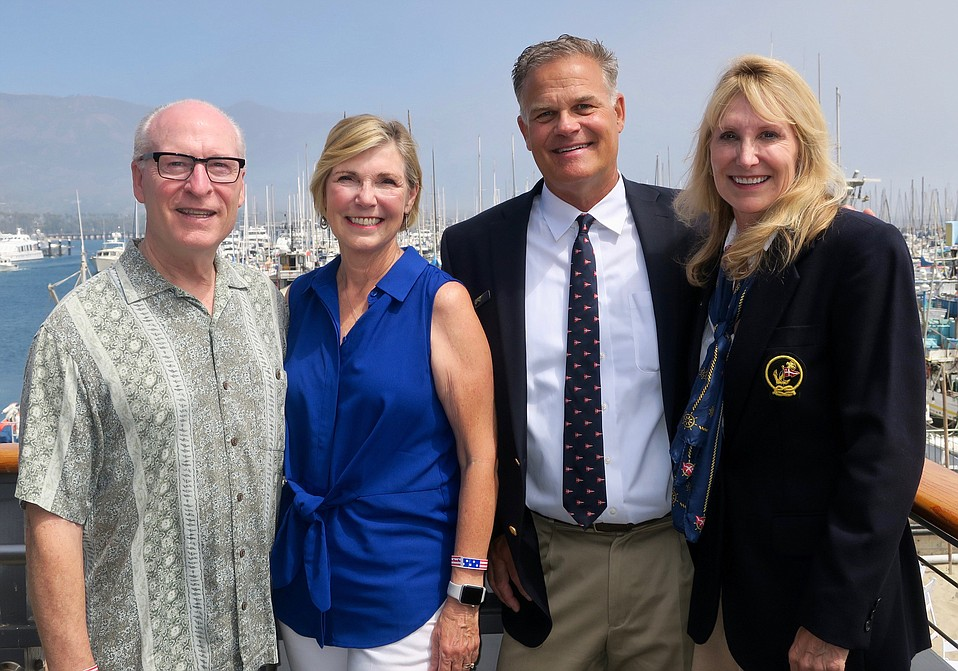 VNHC Foundation Executive Director Rick Keith, VNHC President/CEO Lynda Tanner, SBYC Commodore, Event Committee Member, and sponsor John Koontz, and Event Committee Member and sponsor Teresa Koontz.