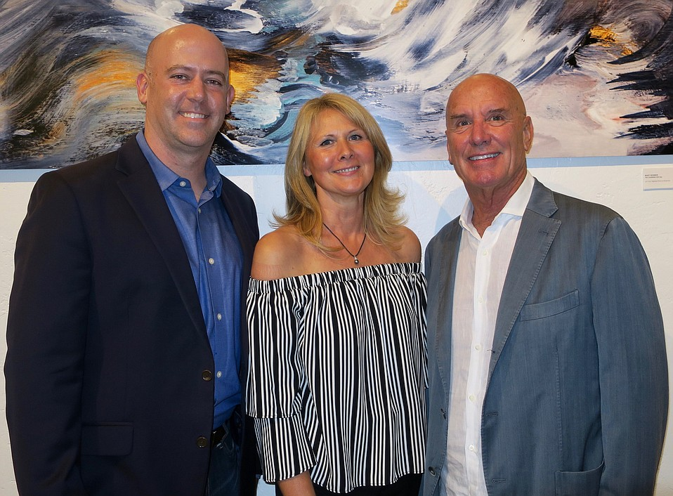 SBCC Foundation CEO and YI advisor Geoff Green, founder and CEO Nathalie Gensac, and Hutton Parker Foundation President Tom Parker