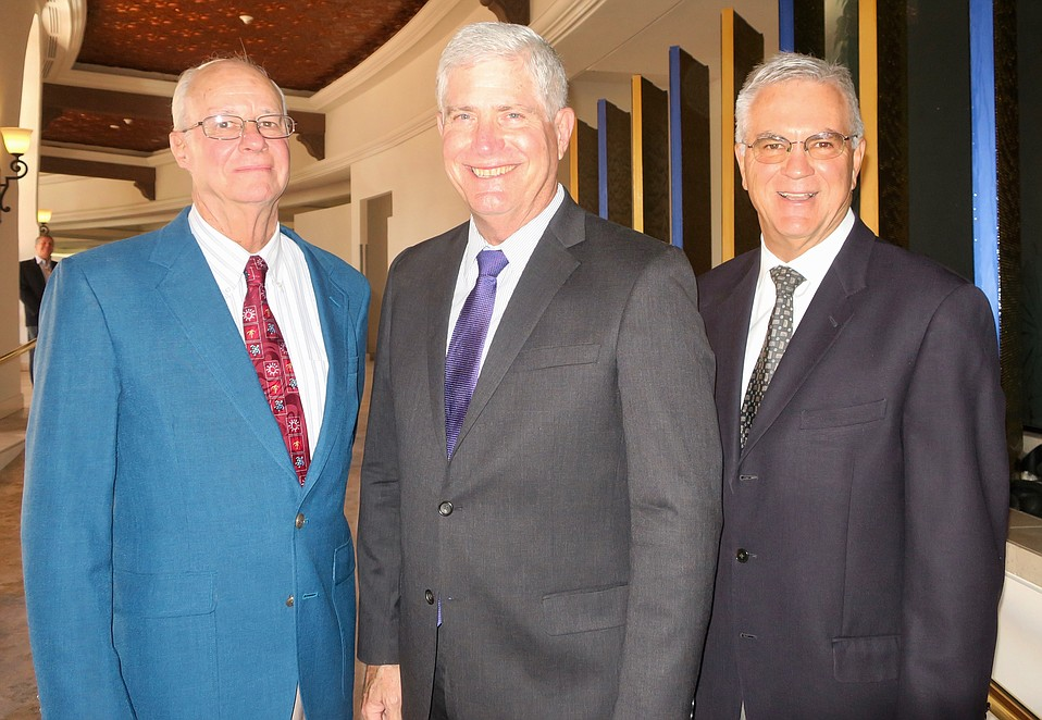 SBNC CEO/Chief Medical Director Dr. Charles Fenzi, Cottage Health President/CEO Ron Werft, and SBNC Board President Jim Armstrong