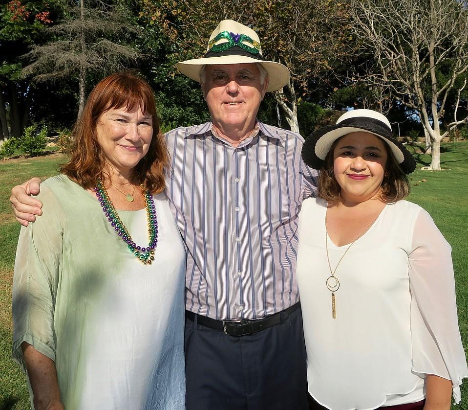 Executive Director Susan Murray, Board President Mark Hamilton, and Sarah House Manager Paloma Espino