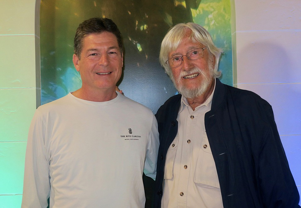Ritz-Carlton Bacara General Manager Roberto Van Geenen with Ocean Futures Society Chair and President Jean-Michel Cousteau