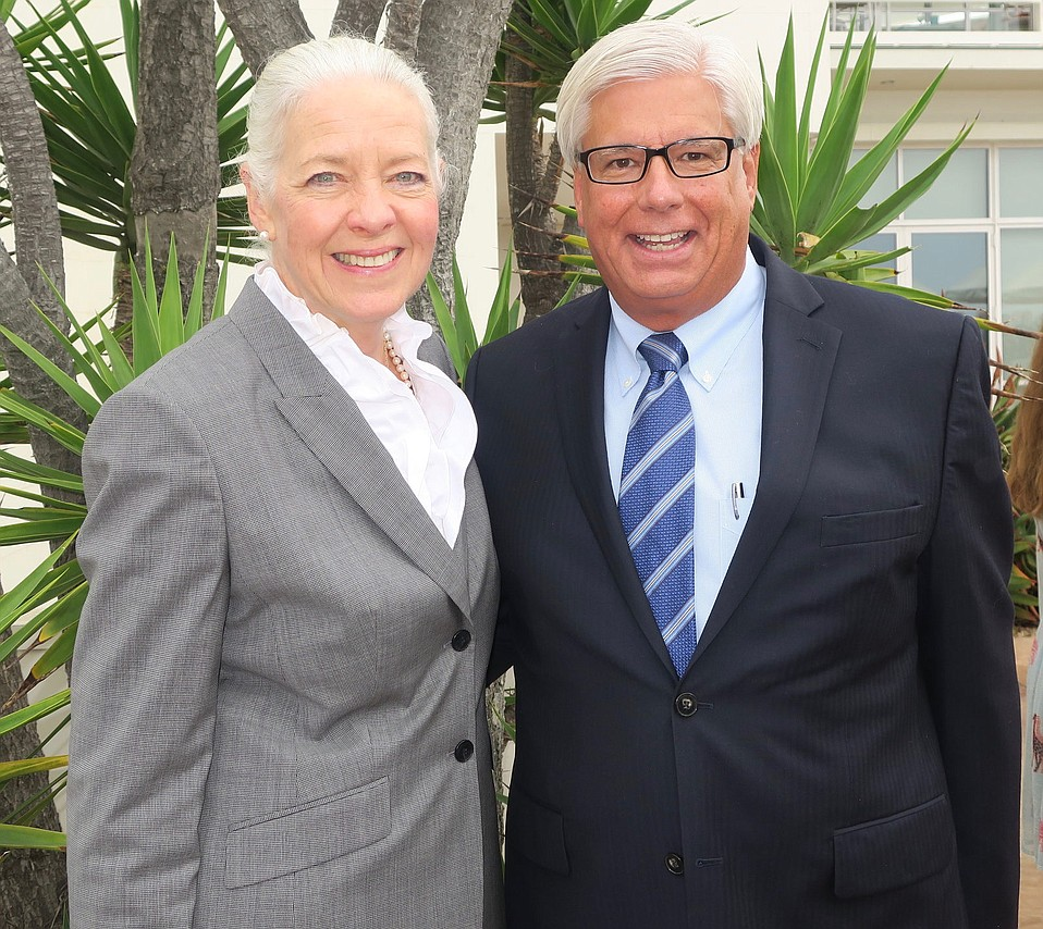 MB&T Chair and CEO Janet Garufis with MB&T President George Leis