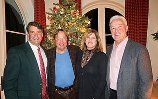 Board Chair Palmer Jackson Jr., Vice Chair Timothy Fisher, Chrisman Executive Director and President Caren Rager, and Immediate Past Chair Dan Burnham