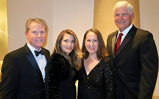 Incoming Board Chair Greg Faulkner, Tammera Faulkner, Mary Werft, and President/CEO Ron Werft