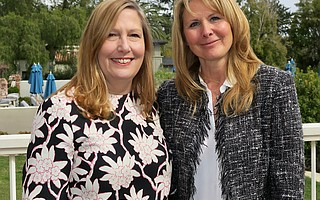 Belmond El Encanto General Manager Colleen Huther and Youth Interactive founder and CEO Nathalie Gensac