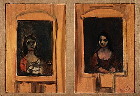Two Women at Windows by Edgar Ewing.