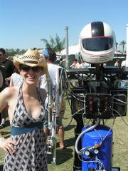 Sarah Hammill meets a Hot Shot, the first robotic Coachella fan.