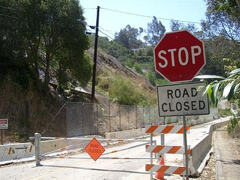 The road's been closed a long time on Highway 144 in Sycamore Canyon. Is it a safety hazard for fires?