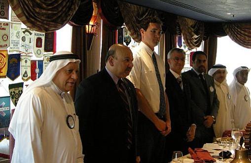 Brent Elder at one of his first meetings in Bahrain.
