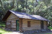 Dabney Cabin dates back to the 1930s and is made of alder logs from the Manzana Creek area.