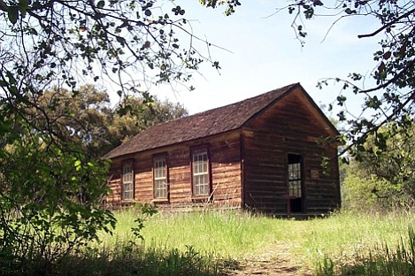 Manzana Schoolhouse was the site of backcountry learning for several dozen of the pioneer families.