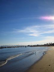 Beach near the Santa Barbara pier
