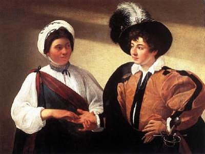 "Caravaggio's ""The Gypsy Fortune Teller"""