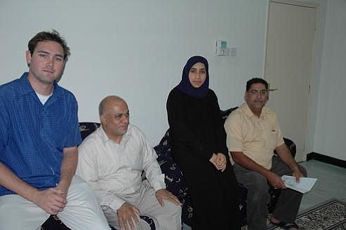 Brent Elder visiting the Friendship Society for the Blind in Bahrain
