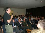 Ivan Reitman speaks in favor of the Miramar at the MBAR meeting.