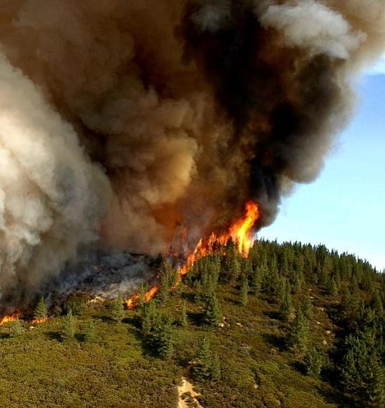Lead image, flames on ridge