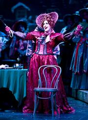 Amber Opheim as Musetta in Act II of the Music Academy's <em>La Bohme</em>.