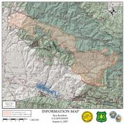 Zaca Fire Perimeter Map - Aug. 5