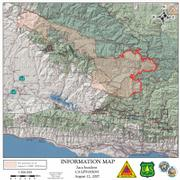 Zaca Fire perimeter as of Aug. 12