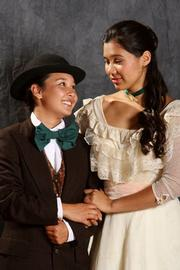 Kelci Hahn was Edwin Drood (left) and Andrea Matthews sang the role of Rose Bud in Y-NOT's production of <em>The Mystery of Edwin Drood.</em>