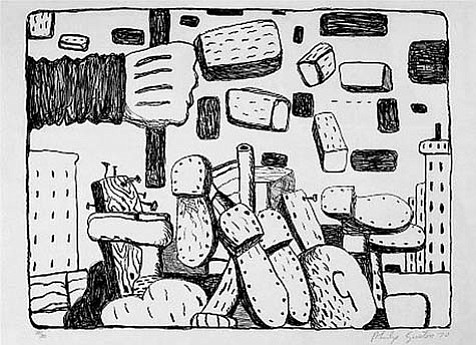 "Philip Guston's ""The Street"" (1970)."