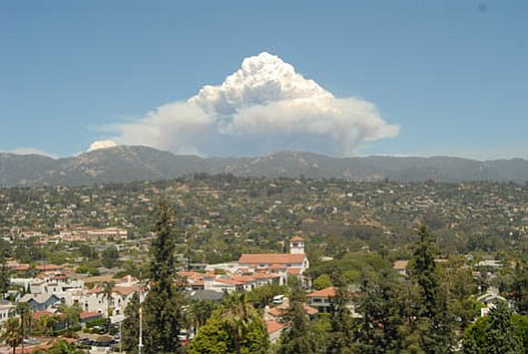 The view from the Santa Barbara Courthouse tower was terrifying Tuesday afternoon. Hands-down the biggest smoke plume we have seen since the Zaca Fire began in early July, the billowing cloud was caused by a patch of previously unburned wildernesslocated well behind containment lines near Little Pine Mountainbeing engulfed by flames.