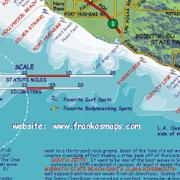 Franco's surfing map of Santa Barbara