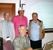 Don Miller training with MERRAG's John Ackerman and Troy Harris, and Michael Shea, of the Red Cross.