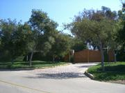 Oprah Winfrey's gate, where Montecito's elite will pass through next weekend.
