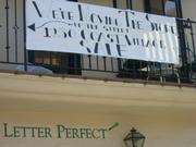 The moving notice from Letter Perfect on Coast Village Road.