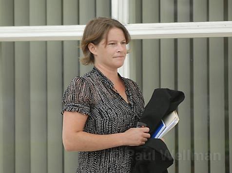 Anna Davison entering the U.S. Bankruptcy Court Thursday morning Sept. 6.