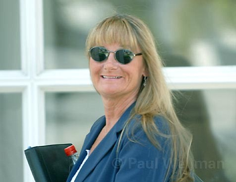 Dawn Hobbs leaving the S.B. Bankruptcy Court Noon Friday 9/7/07