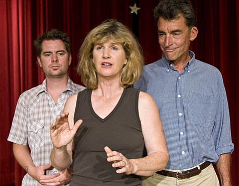 Alfred St. John Smith (Tommy), Laurel Lyle (Janice), and David Brainard (Bill) take on the establishment in Michael Smith's Bad Dog.