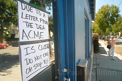The sign in the window of the recently shut down Acme medical marijuana dispensary on West Victoria Street says it all-people are fearing the feds. While many dispensaries remain open, their future is uncertain in the face of possible eviction.