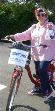 Our columnist pledges to be the first to ride her bike on the Barry Siegel Trail.