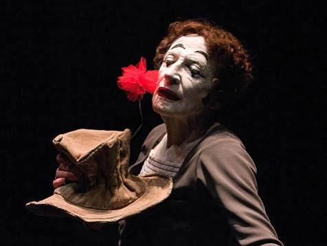 The late Marcel Marceau, in an April 2003 appearance at the Lobero Theatre.