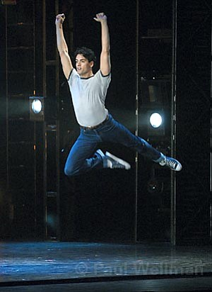 One of the highlights of <em>Movin' Out</em> was powerhouse dancer John Corsa in the role of Tony.