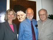 From left, Rep. Lois Capps, artist Robert Shetterly, and Spencer Boise.