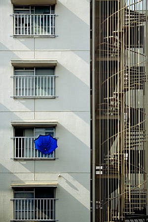 "Chris Messner's ""<em>Blue Umbrella</em>."""