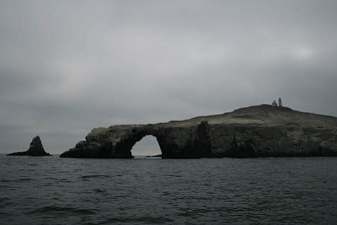 An eerie view of Anacapa Island.